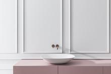 Bathroom Sink Near White Wall