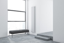 White Minimalistic Living Room...