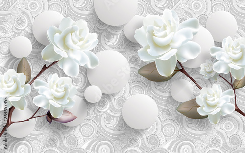 Orchidée 3d wallpaper chinese europe design