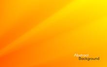 Orange Minimal Background. Yellow Waves Concept. Smooth Orange Lines. Simple Design For Web Or App. Bright Color Backdrop. Soft Fluid Gradient. Vector Illustration