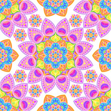 Seamless Bright Pattern With M...