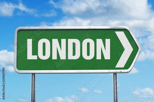 Photo  London Road Sign