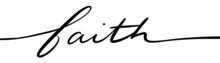 Faith Hand Lettering Script In...