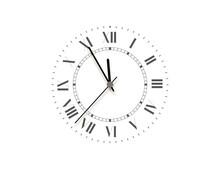 Black Face Clock, Five Minutes...