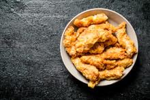Chicken Strips In Bowl.
