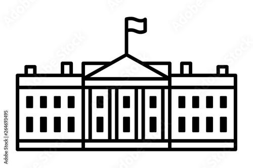 Fototapeta White House - The residence of the president of the United States of America lin
