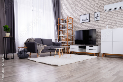 Fototapeta Beautiful Modern Living Room obraz na płótnie