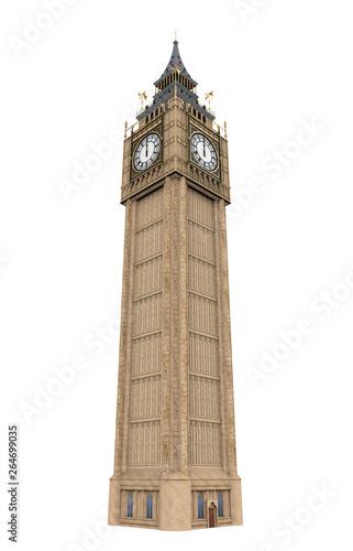 Fotografía Big Ben Isolated
