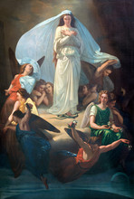 CATANIA, ITALY - APRIL 7, 2018: The Painting Of Immaculate Conception In Church Chiesa Di San Placido By Michele Rapisardi (1857).