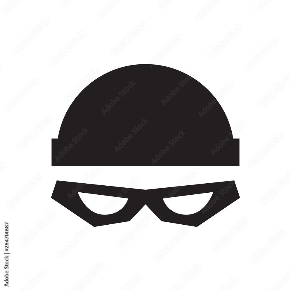 Fototapeta Thief with cap icon. Isolated Vector Illustration