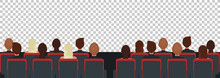 Cinema, Theater Audience Flat Illustration