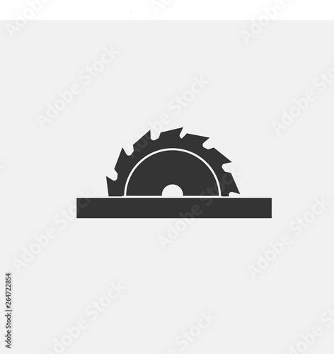 Foto Saw blade vector icon solid grey