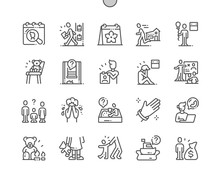 International Missing Children's Day Well-crafted Pixel Perfect Vector Thin Line Icons 30 2x Grid For Web Graphics And Apps. Simple Minimal Pictogram