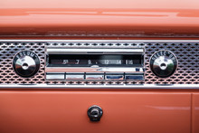 Old Classic Car Radio In The D...