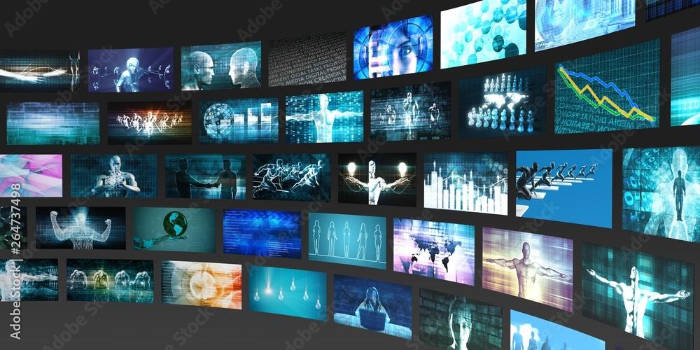 Fototapety, obrazy: Media Technologies Concept