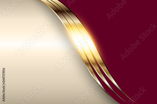 Business elegant background, golden red metallic. Fototapet