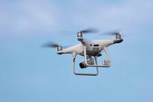 Phantom 4 Pro Drone In Flight....