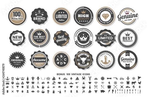 Obraz Vintage Retro Vector Logo for banner - fototapety do salonu