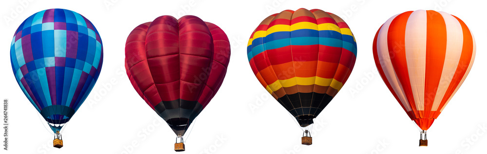 Fototapety, obrazy: Isolated photo of hot air balloon isolated on white background.
