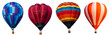 canvas print picture - Isolated photo of hot air balloon isolated on white background.