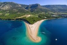 Zlatni Rat Beach In Bol Croatia