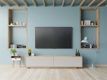 TV On The Cabinet In Modern Li...