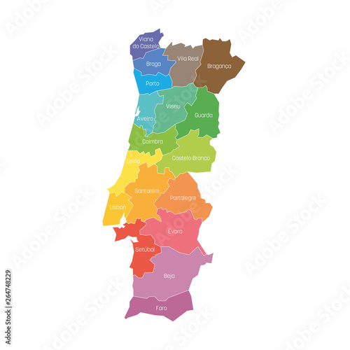 Valokuva  Districts of Portugal