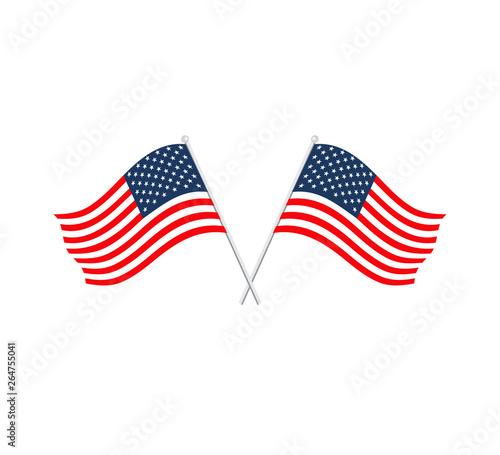 Flag usa icon vector Wall mural