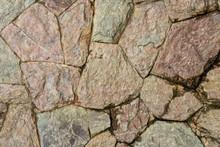 Close Up Grunge Stone Wall Of ...