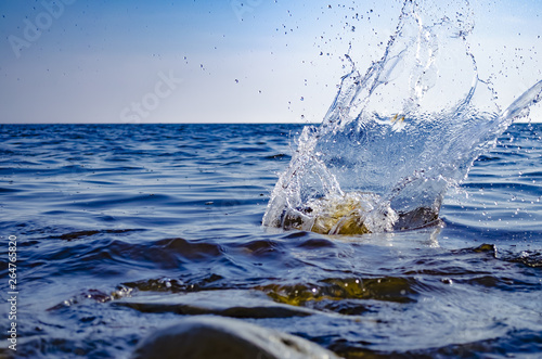 Splashing wave on the Black sea.