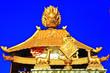 Leinwanddruck Bild - stupa in the ancient Tibetan monastery