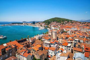 Stari grad Split u Dalmaciji, Hrvatska. Split je poznato gradsko i vrhunsko turističko odredište Hrvatske i Europe.