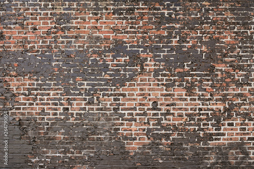 Poster Brick wall Old red brick wall background texture