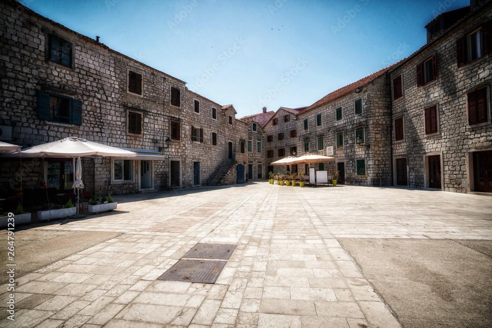Fototapeta Historic town of Stari Grad on Hvar Island in Croatia, Europe. Stari Grad old town is the top tourist destination of Hvar, Croatia.
