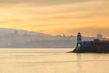 Sunset At Brokcton Point Lighthouse