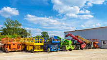 Construction Machinery In Summer