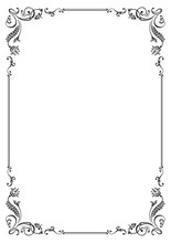 Calligraphic Floral Frame And ...