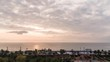 Sea level change clouds and sunrise time-lapse photography