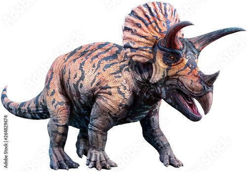 Fotografie, Obraz Triceratops 3D illustration