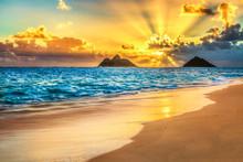 Sunrise At Lanikai Beach, Kailua, Oahu, Hawaii