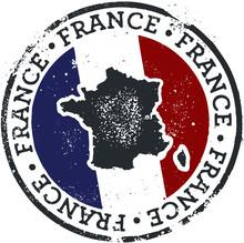 Vintage France Country Travel Stamp