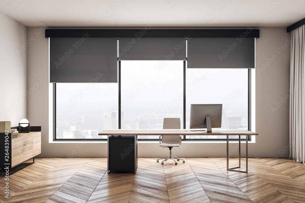 Fototapeta Modern wooden office interior