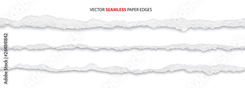 Fotomural realistic torn paper edges, vector illustration