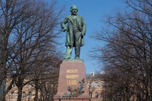 St. Petersburg, Russia, Monument To Composer M. I. Glinka In St. Petersburg.