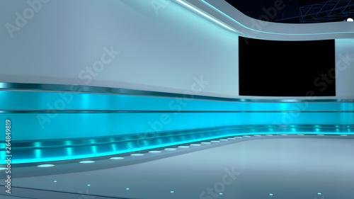 Valokuva  TV Virtual Studio background 3d rendering