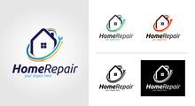 Home Repair Logo Template Set