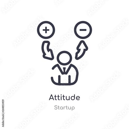Photo attitude outline icon