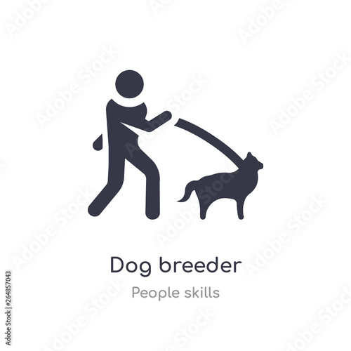 Fotografija dog breeder outline icon