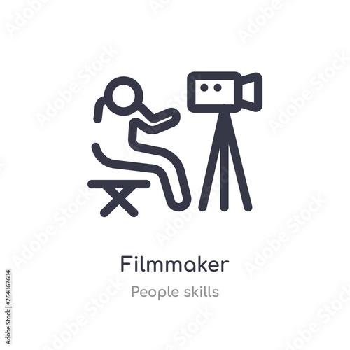 filmmaker outline icon Canvas-taulu