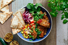 Mexican Style Bowl With Fish, ...